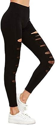SheIn Yoga Pants, Sports Leggings, Long, Super Stretch, Damaged Jersey, Jogger Pants, Running, Hot Yoga, Train