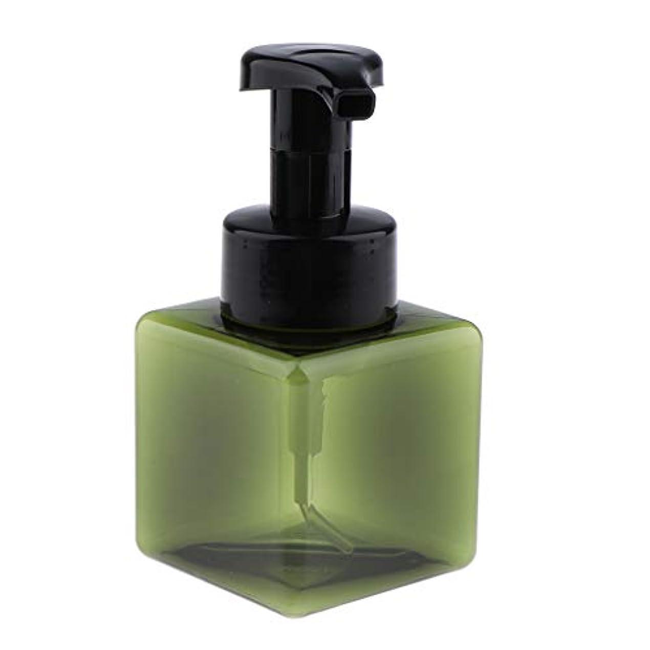 レベル敬な一流浴室の台所ホテル用 詰め替え式 泡立つ石鹸ディスペンサーポンプびん 正方形 250ml - 濃い緑色