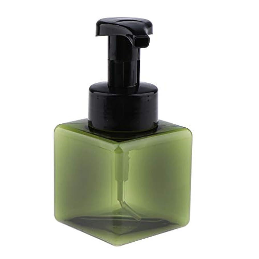 ホバートアクション不確実CUTICATE 浴室の台所ホテル用 詰め替え式 泡立つ石鹸ディスペンサーポンプびん 正方形 250ml - 濃い緑色