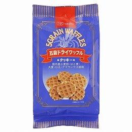 創健社 五穀 ドライワッフル 8枚入 ×2個 セット (自然 健康 食品) (五穀入り クッキー)