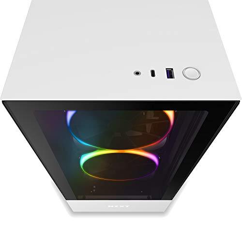 『NZXT H510 Elite 前面+側面ガラスパネル RGB LED発光&ファン制御機能搭載 [ White & Black ] CA-H510E-W1』の2枚目の画像
