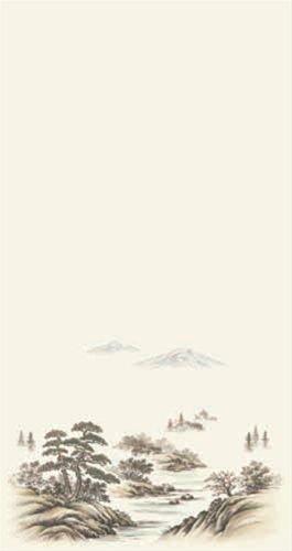 アサヒペン アサヒペン EXアイロン貼りふすま紙 95cm×180cm (山水) No.001
