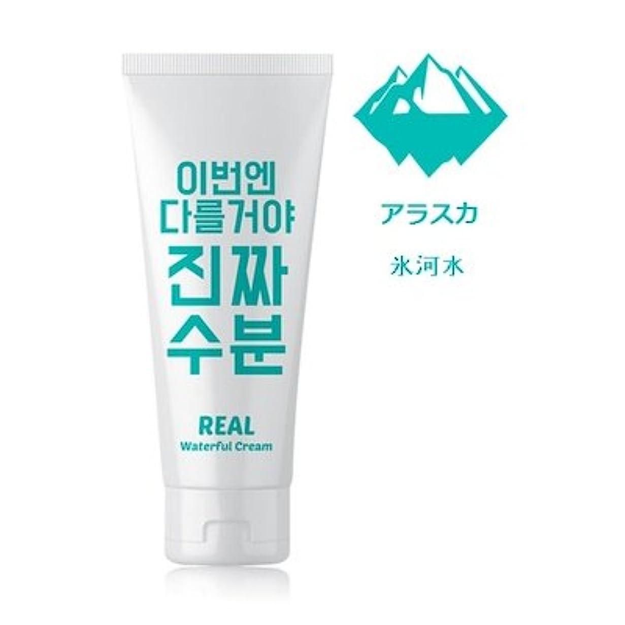 賞パフ等価Jaminkyung Real Waterful Cream/孜民耕 [ジャミンギョン] 今度は違うぞ本当の水分クリーム 200ml [並行輸入品]