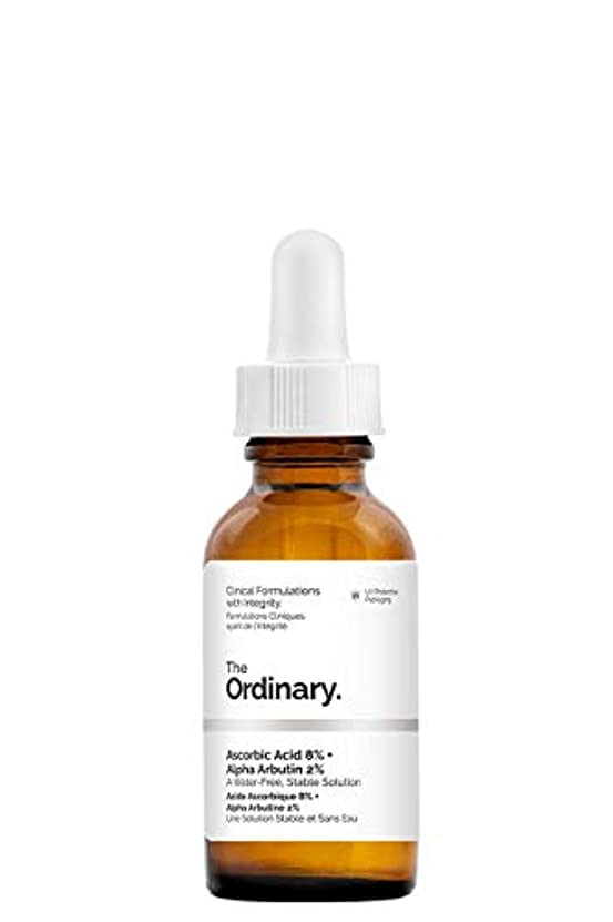 矢じり下向き割合The Ordinary Ascorbic Acid 8% + Alpha Arbutin 2%