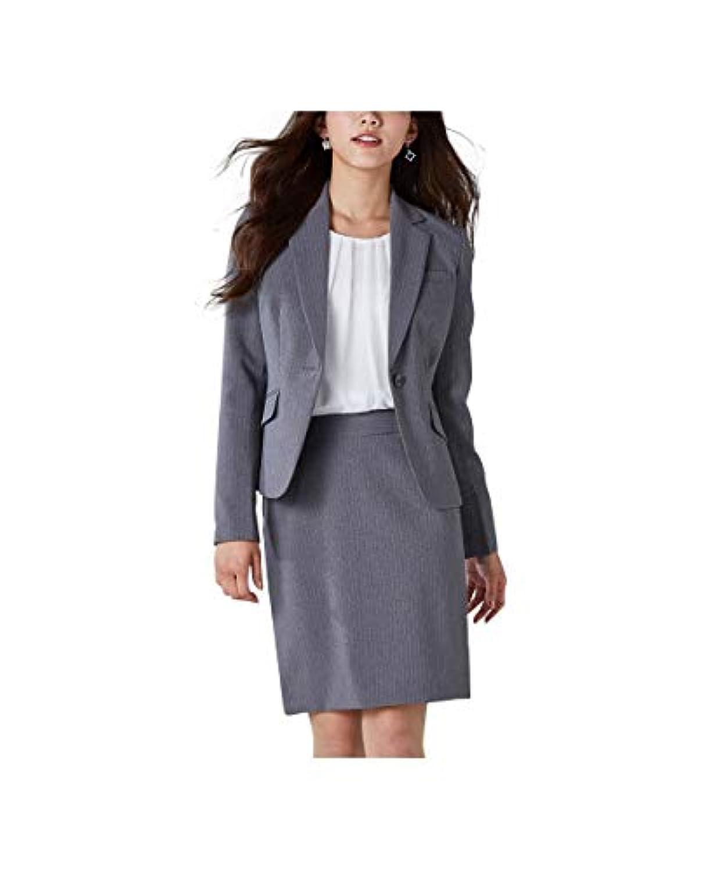 [nissen(ニッセン)] オフィススーツ スカートスーツ 上下 セットアップ 洗える オールシーズン 定番 (ひざ上丈 50cm) レディース
