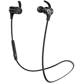 【進化版 apt-X HD cVc8.0 18時間連続再生】TaoTronics Bluetooth イヤホン(IPX6防水仕樣 Bluetooth5.0)ノイズキャンセリング 自動ペアリング 高音質 マグネット搭載 スポーツ仕様 TAOTRONICS SoundElite 71(ブラック)