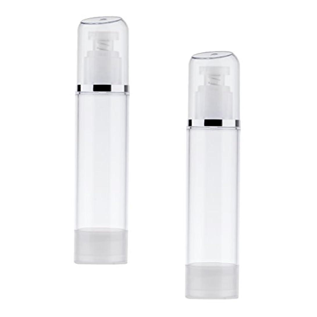 Kesoto 2個 空ボトル ポンプボトル エアレス ポンプディスペンサー ボトル プラスチック 100ml クリア