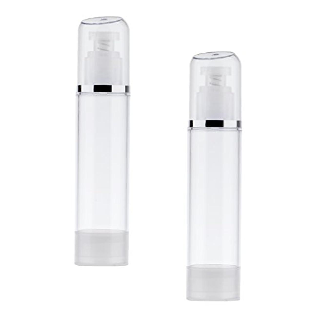 センチメンタル出版原子炉2個 空ボトル ポンプボトル エアレス ポンプディスペンサー ボトル プラスチック 100ml クリア