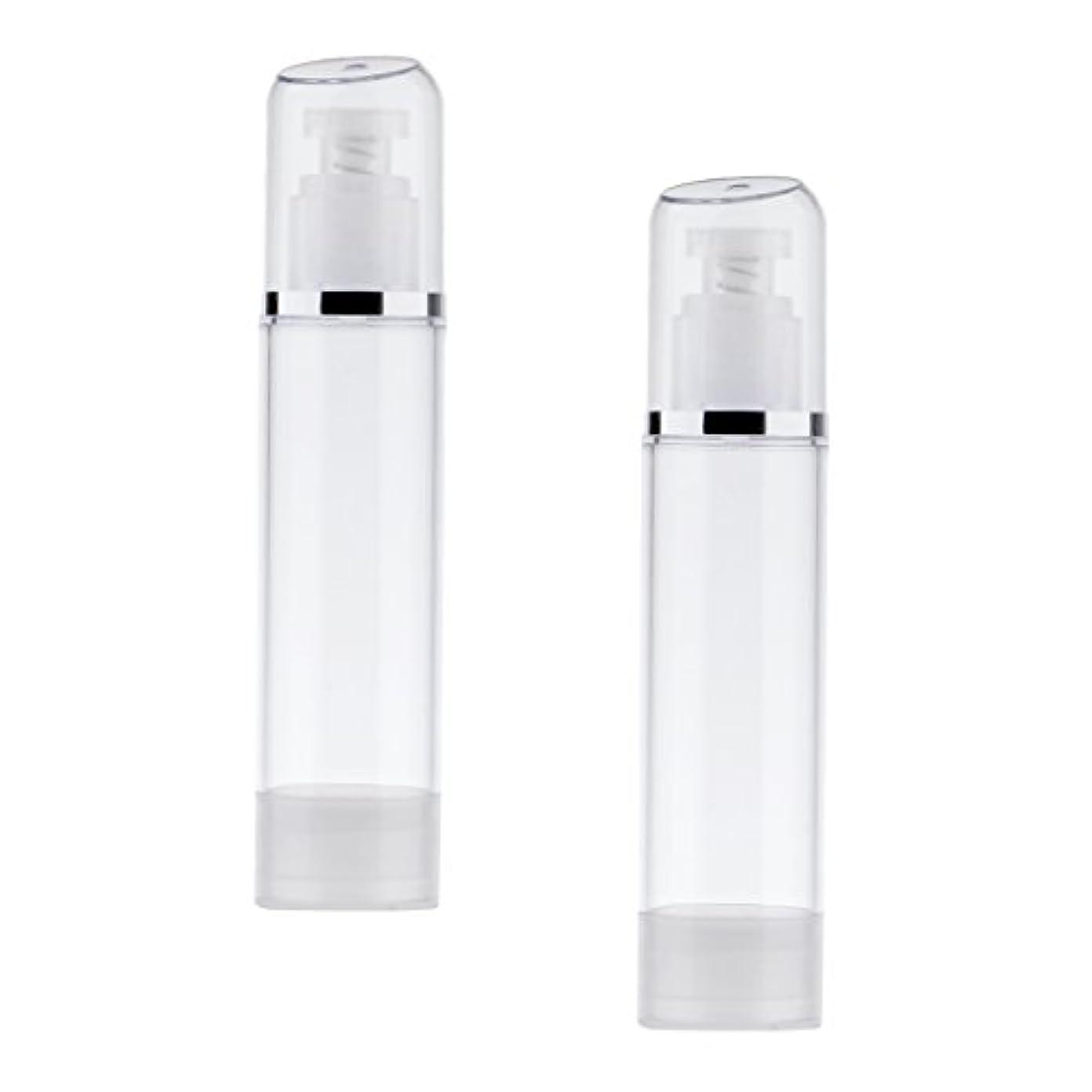 有害一致逮捕Kesoto 2個 空ボトル ポンプボトル エアレス ポンプディスペンサー ボトル プラスチック 100ml クリア