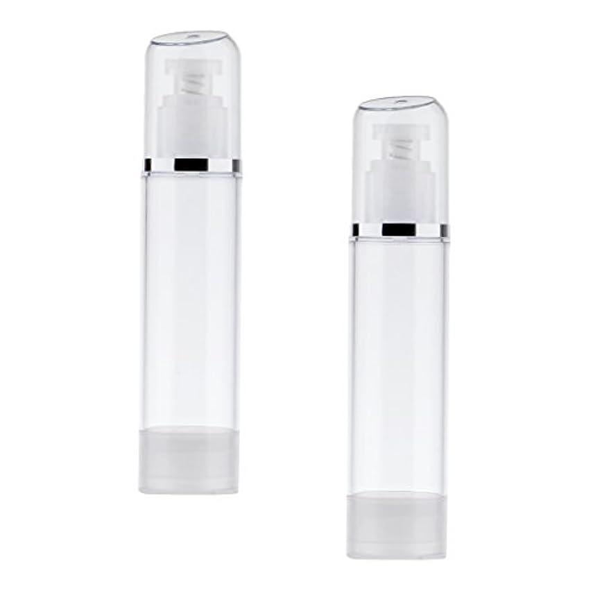 スキップマニフェスト美人2個 空ボトル ポンプボトル エアレス ポンプディスペンサー ボトル プラスチック 100ml クリア