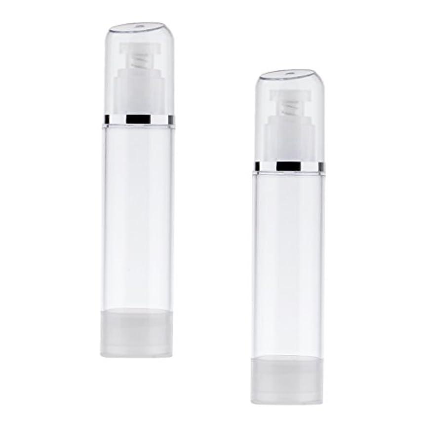 パリティ列車非行2個 空ボトル ポンプボトル エアレス ポンプディスペンサー ボトル プラスチック 100ml クリア