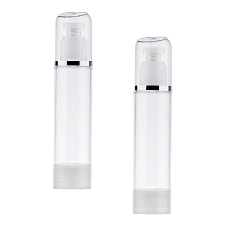 従者マイナスデンマーク2個 空ボトル ポンプボトル エアレス ポンプディスペンサー ボトル プラスチック 100ml クリア