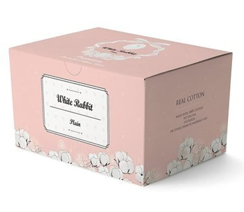誤って気付く重量White Rabbit プレミアム コットン パッド / ティッシュタイプの化粧コットン / Premium Cotton Pad (プレーンタイプ 200枚)