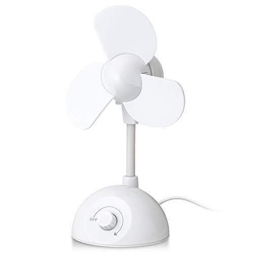 エレコム USB扇風機 卓上扇風機 静音 無段階風量調節スイッチ フレキシブルアーム [2019年モデル] ホワイト FAN-U191WH