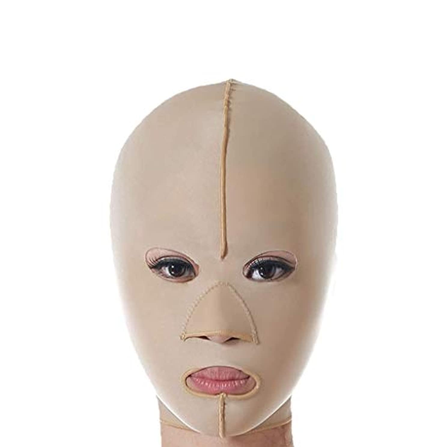 成熟変化する勇気減量フェイスマスク、リフティング包帯、スリムフェイスリフトリフティングベルト、フェイシャル減量リフティング包帯、リフティングファーミング包帯(サイズ:XL),M