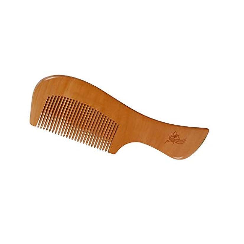 痴漢集団の面ではヘアーコーム ヘアブラシ、ナチュラルピーチウッドコーム、エアバッグマッサージコーム、男性用女性および子供用、タングル、長髪、厚い、カーリー、波打ち、乾燥および損傷した髪用のヘアブラシスタイル 理髪の櫛
