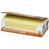 (まとめ) 3M ポストイット エコノパック ふせん 再生紙 75×25mm イエロー 5001-Y20 1パック(24冊) 【×2セット】