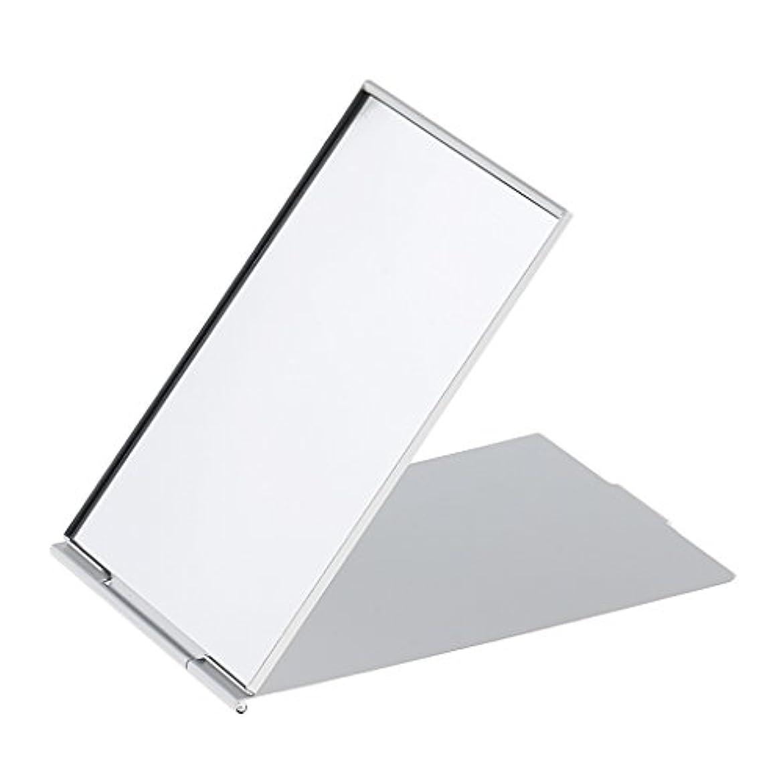 タイピスト運賃精査メイクミラー 軽量 折りたたみ ポケット コンパクトミラー トラベル 化粧鏡 全3サイズ - #3