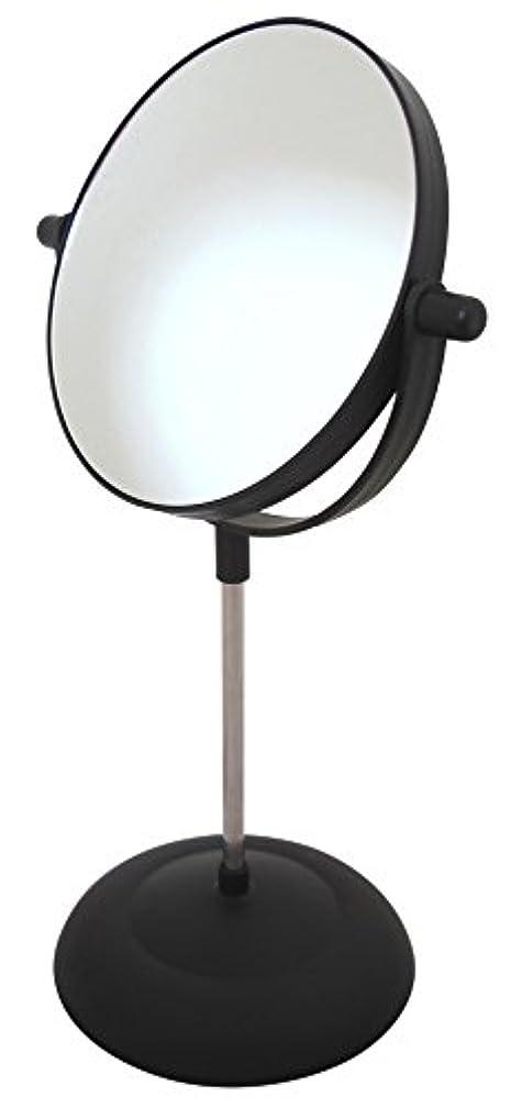 マークダウン委託怪しい拡大鏡 付 化粧 鏡 二面鏡 両面 卓上 スタンド ミラー 回転 角度 調節 可能 女優 ミラー メイク 鏡 (丸型 ブラック)