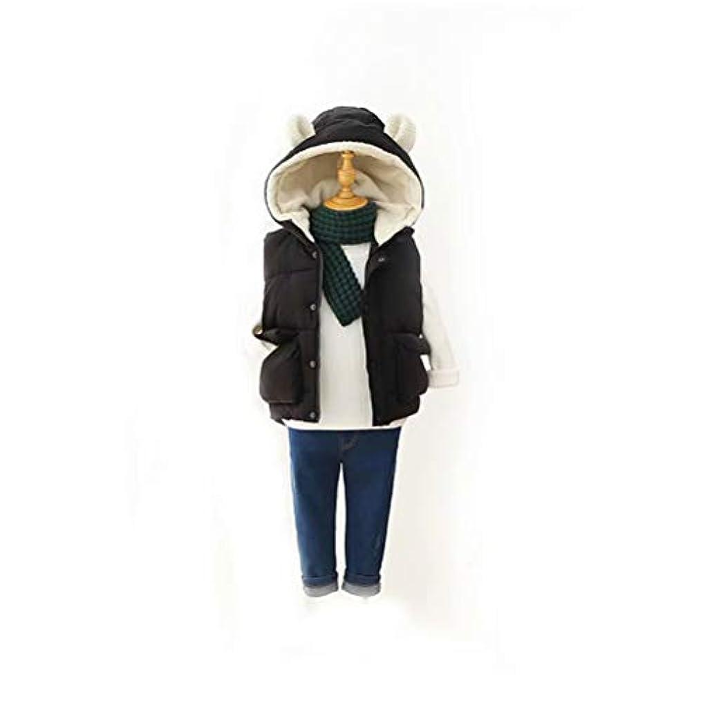 午後定義する高尚なTenflow ダウンベスト 中綿 キッズ ベスト ジレ ダウンジャケット 袖なし ミリタリー フード付き 子供服 チョッキ 秋冬 防寒 アウター 可愛い