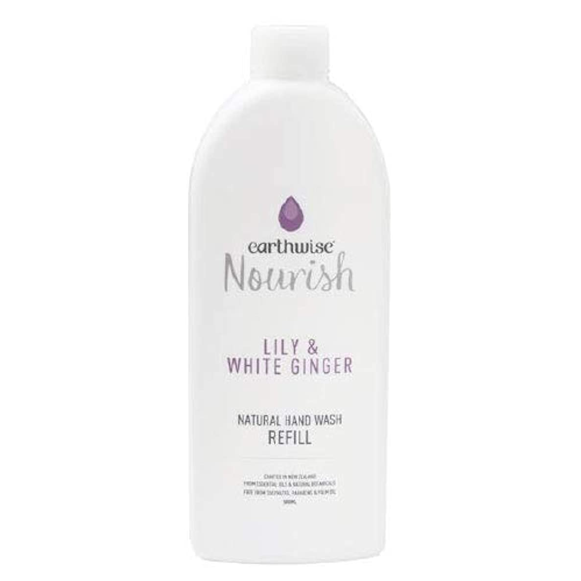 平らなである鎖earthwise アースワイズ ナチュラルハンドウォッシュ リリー&ホワイトジンジャー 液体 石鹸 詰め替え用 500ml