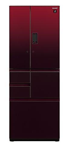 シャープ メガフリーザー 冷蔵庫 551L グラデーションレッド SJ-GX55D-R