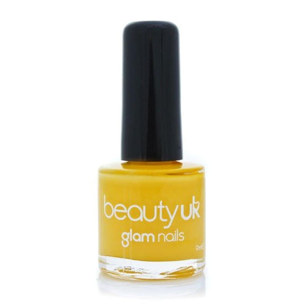 平方顎補償Beauty Uk Glam Nails No36 Yellow Peril 9ml [並行輸入品]