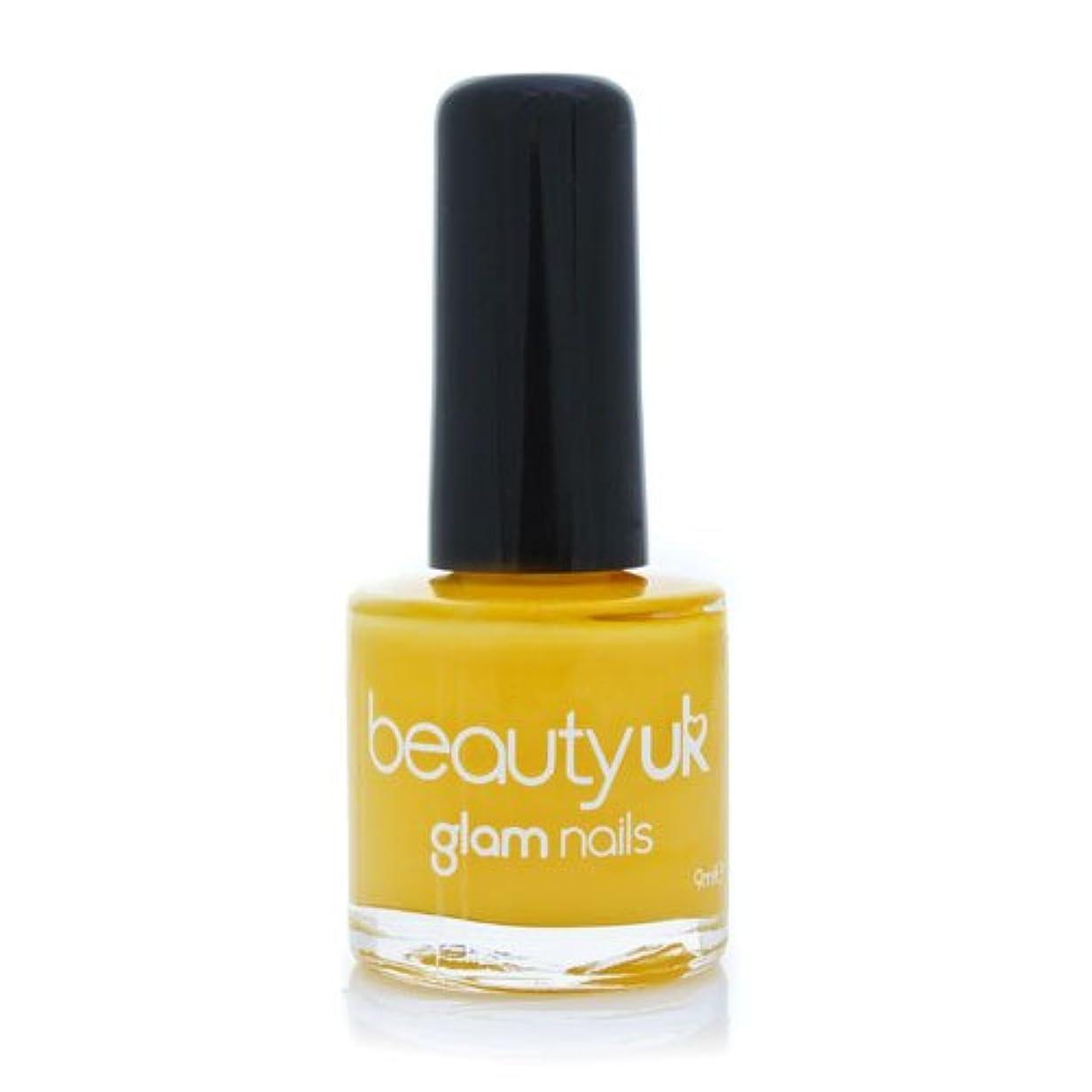 降臨面積テレマコスBeauty Uk Glam Nails No36 Yellow Peril 9ml [並行輸入品]