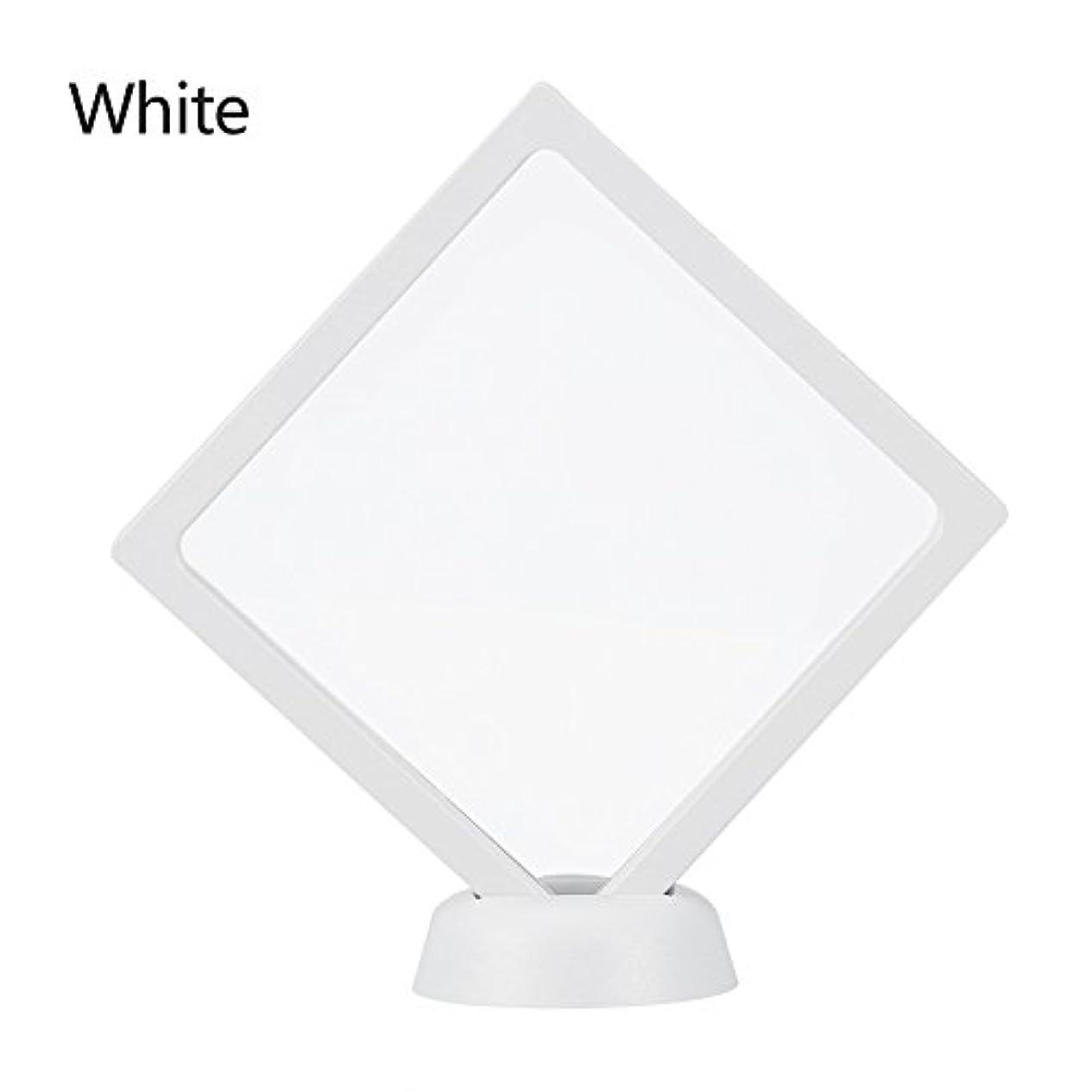 信条フレッシュ打ち上げるアクリルネイルプレートとPETフィルムディスプレイスクリーン付きの2つのダイヤモンドネイルディスプレイスタンド - 4.3 4.3インチネイルホルダーツール(White)