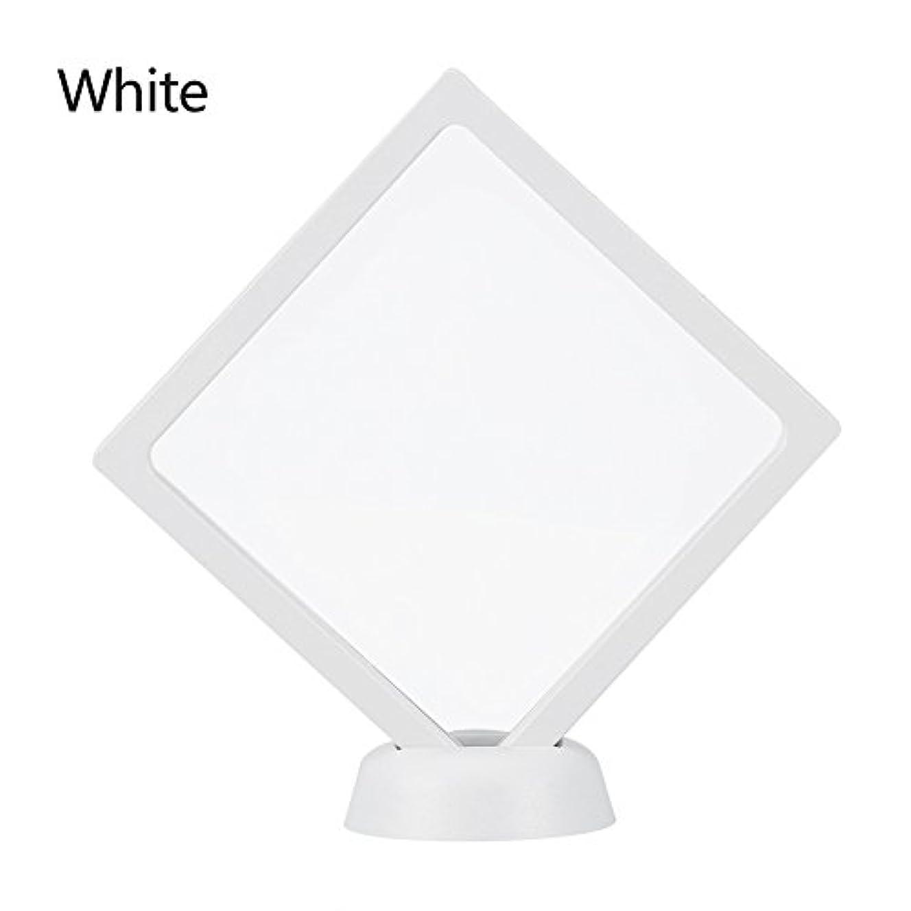 敬意書誌カフェテリアアクリルネイルプレートとPETフィルムディスプレイスクリーン付きの2つのダイヤモンドネイルディスプレイスタンド - 4.3 4.3インチネイルホルダーツール(White)