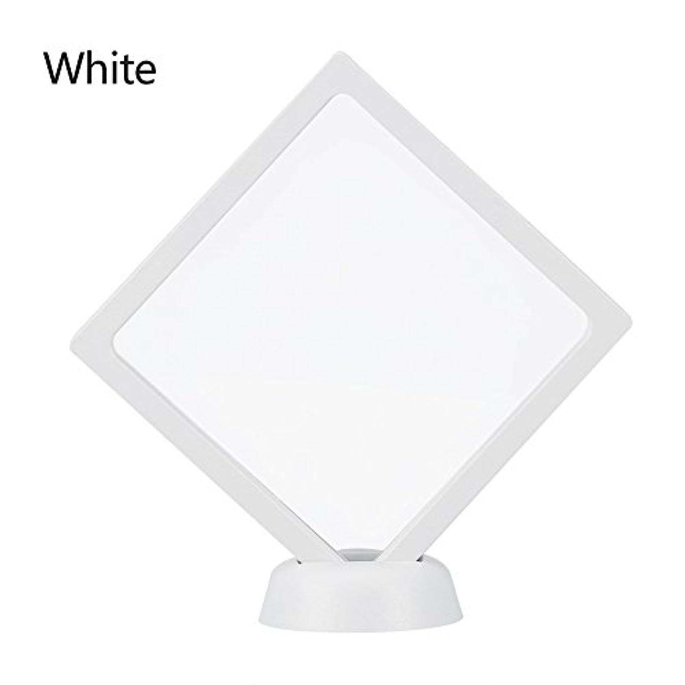 退屈神秘電話するアクリルネイルプレートとPETフィルムディスプレイスクリーン付きの2つのダイヤモンドネイルディスプレイスタンド - 4.3 4.3インチネイルホルダーツール(White)