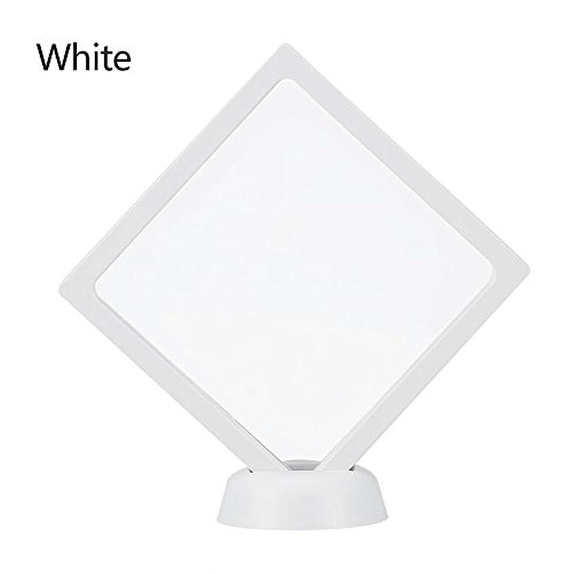 荷物横たわる証人アクリルネイルプレートとPETフィルムディスプレイスクリーン付きの2つのダイヤモンドネイルディスプレイスタンド - 4.3 4.3インチネイルホルダーツール(White)