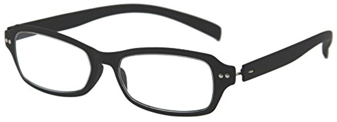 デューク 老眼鏡 +1.5 度数 ネオクラシック 超軽量フレーム ソフトケース付き ラバーブラック GLR01-2+1.50