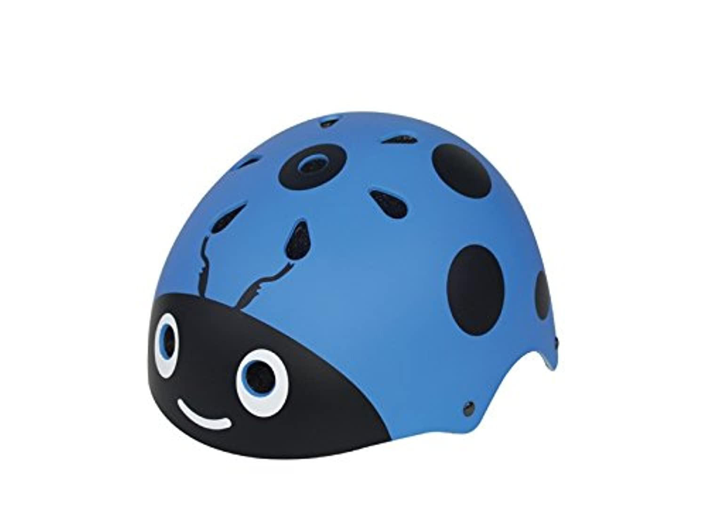 Osize 子供レディバトルヘルメットかわいいストリートバイクヘルメット漫画ライディングヘルメットスケートヘルメット(青)