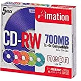 CDRW80ACLNX5S CDRW 700MB ブランド入 カラーミックス 5枚パック スリムケース入