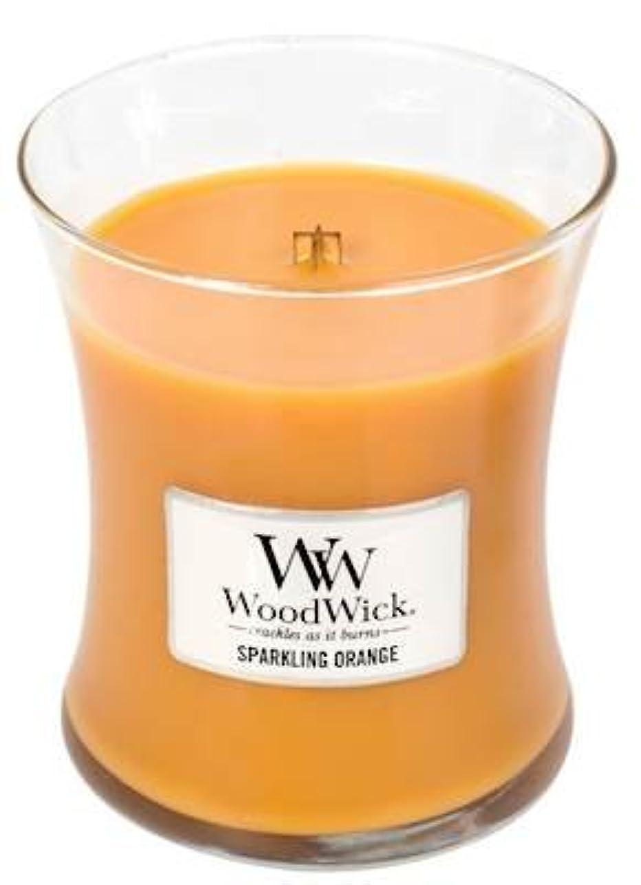不確実飢饉イノセンスSparklingオレンジWoodWick 10oz香りつきJar Candle
