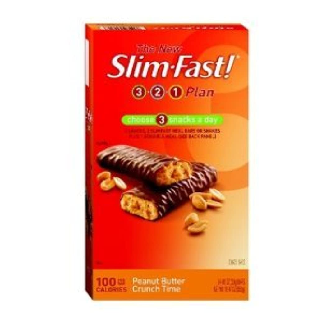簡略化するセットするスタックDiet Bar - 100 Calorie, Peanut Butter Crunch Time, 24-Count - ダイエット バー ピーナツバターバー 100カロリ - 24枚入り (海外直送品)