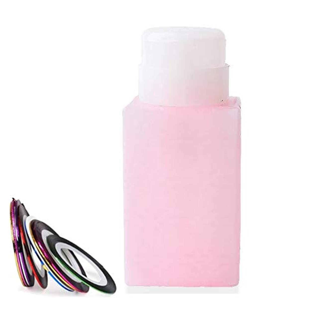 時折例外稚魚空ポンプボトル ポンプディスペンサー ネイルワイプ瓶 ジュルクリーナー ジュルリムーバー 可愛い (ピンク)