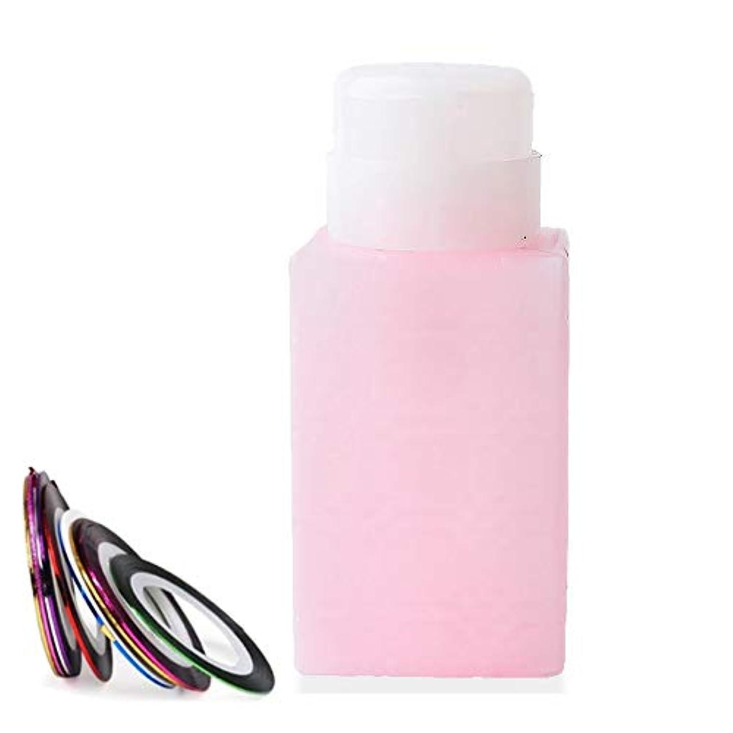 送料リレーどっち空ポンプボトル ポンプディスペンサー ネイルワイプ瓶 ジュルクリーナー ジュルリムーバー 可愛い (ピンク)