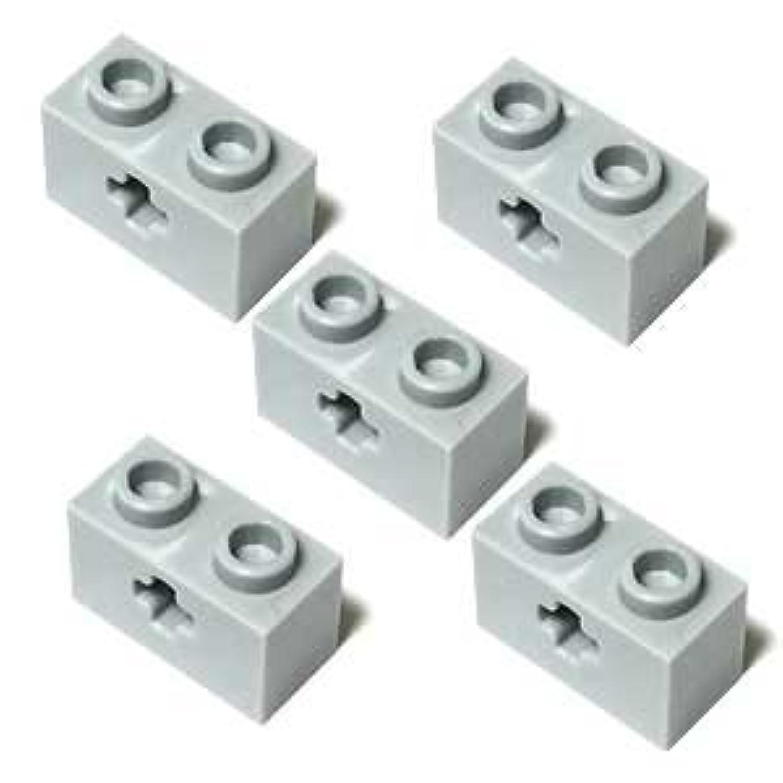 LEGOブロック?純正パーツ<テクニック?ブロック>1 x 2 with Axle Hole (5個, Light Bluish Gray) [並行輸入品]