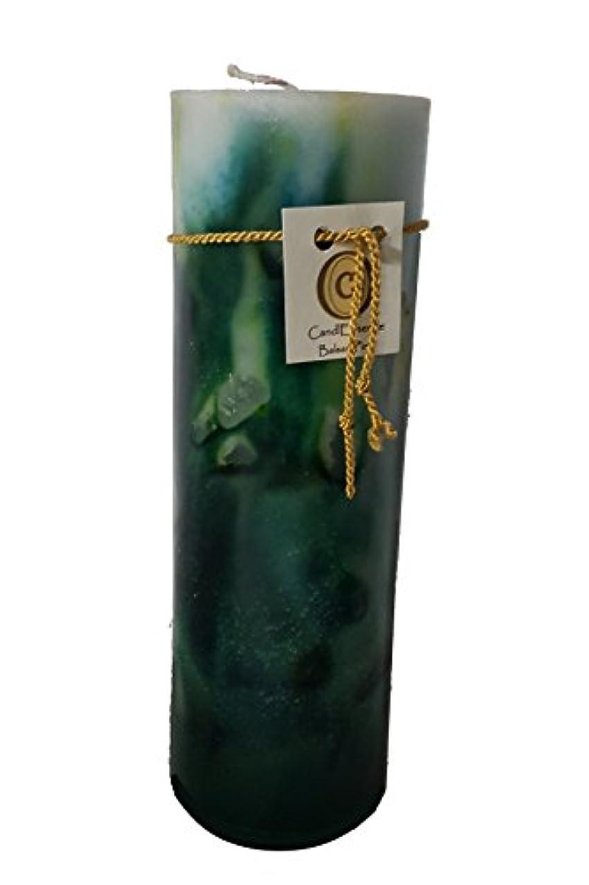 不均一縞模様の願うハンドメイドScented Candle – Long Burningピラー – Balsam Pine香り L B01N63R5RH
