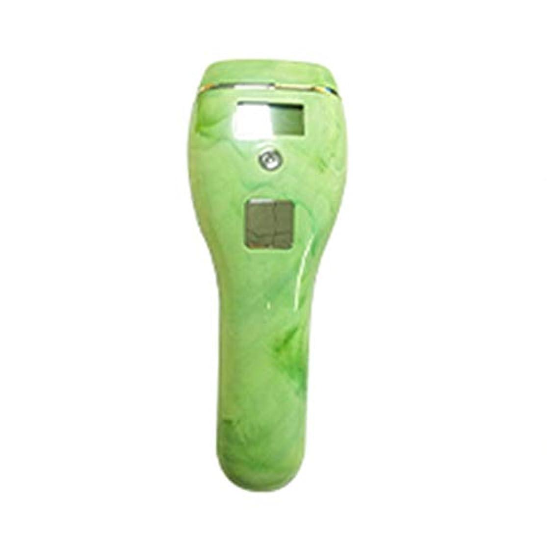 続編スカルク矢印高男 自動皮膚感知グリーン、5スピード調整、石英管、ポータブル無痛全身凍結脱毛器、サイズ19x7x5cm (Color : Green)