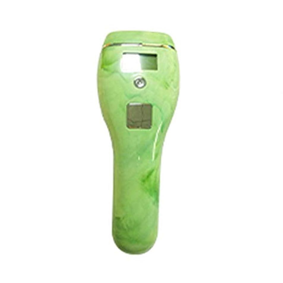 選択する屋内でボール高男 自動皮膚感知グリーン、5スピード調整、石英管、ポータブル無痛全身凍結脱毛器、サイズ19x7x5cm (Color : Green)