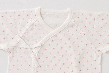 (チャックル) chuckle 星柄新生児コンビ肌着【1枚売り】 ピンク 50-60cm P6733-00-20