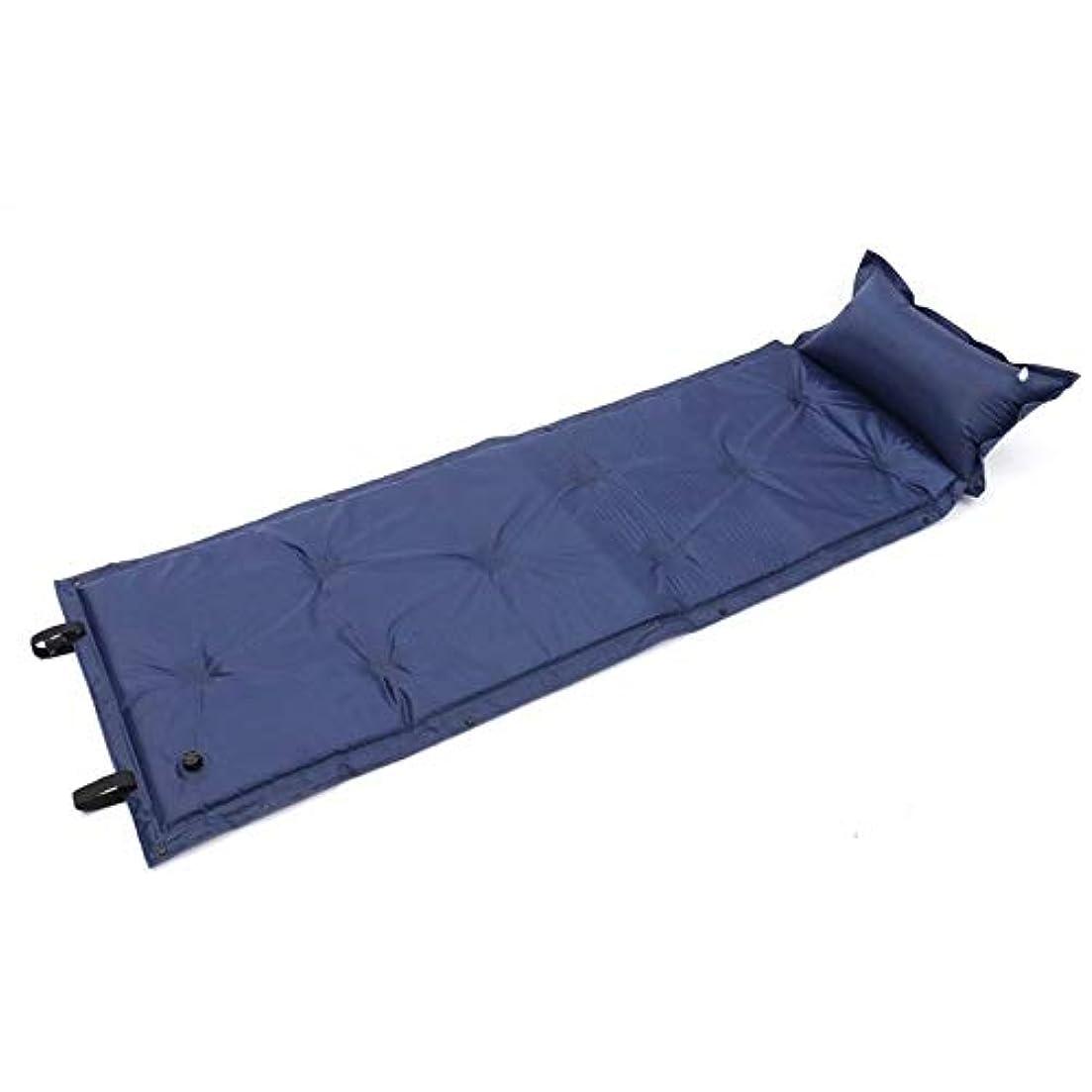 前任者不合格事務所BeTyd 防水?防湿、キャンプ用マットレスエアマットレス自動膨張式寝袋枕、アウトドアキャンプに最適、ハイキング、ビーチ、ヤードレストブルー