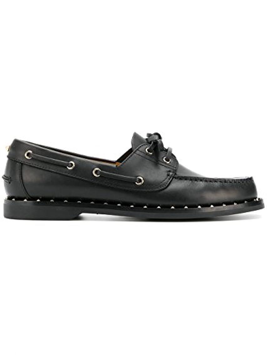 上流の故障中フェミニンValentino Garavani メンズ PY2S0A68MPW0NOO ブラック 革 布鞋