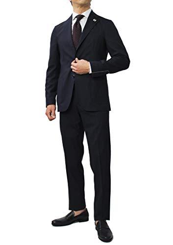 LARDINI ラルディーニ Easy Wear パッカブル ウール ピンチェック 撥水ストレッチ スーツ