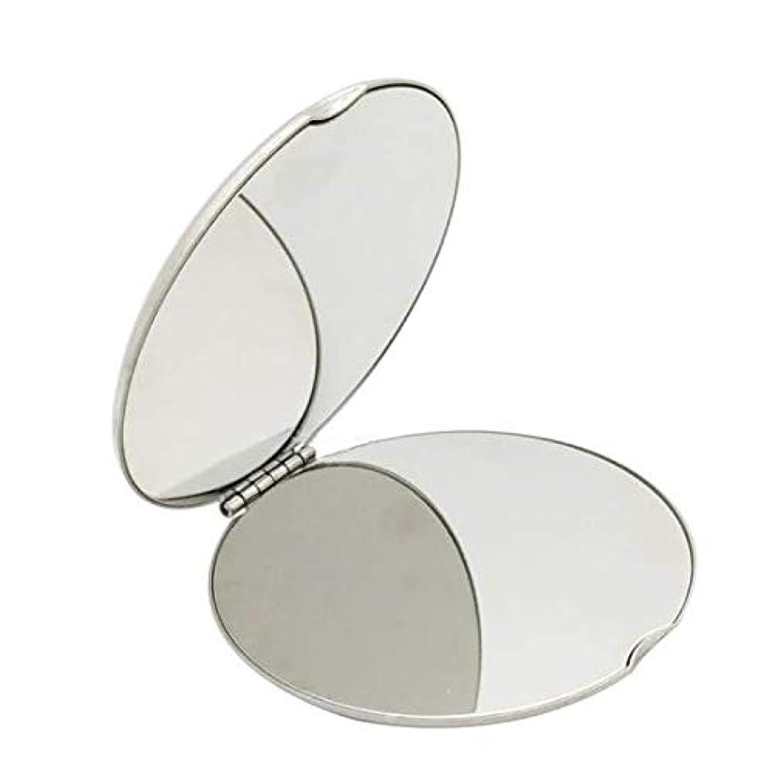 両方フルーティー現代の飛散防止化粧鏡ステンレス鋼 化粧鏡おすすめ 携帯用ミラー化粧用鏡(ラウンド)
