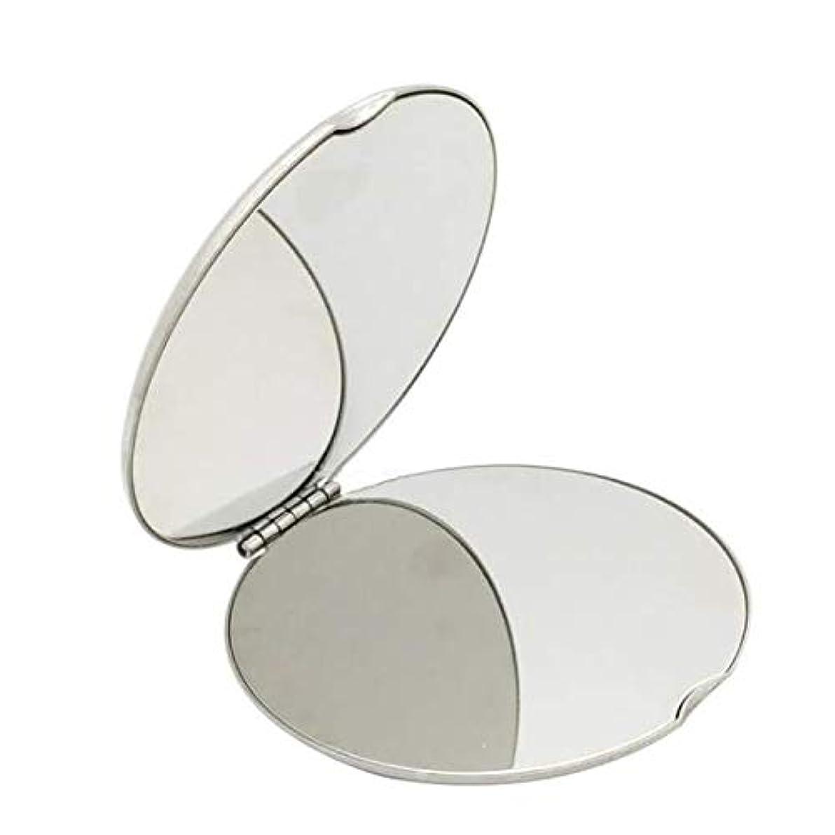 一見めまいが現実的飛散防止化粧鏡ステンレス鋼 化粧鏡おすすめ 携帯用ミラー化粧用鏡(ラウンド)