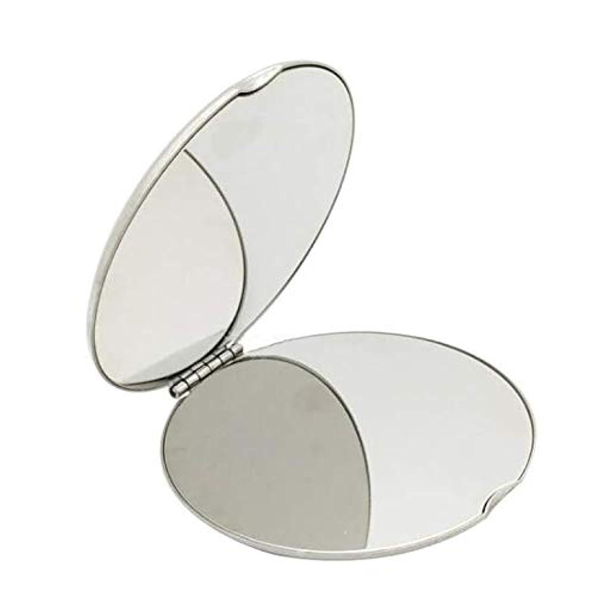 日記衝突する男やもめ飛散防止化粧鏡ステンレス鋼 化粧鏡おすすめ 携帯用ミラー化粧用鏡(ラウンド)